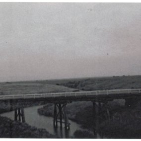 Kirk's Bridge was originally a wooden construction built in 1870 and replaced with the current concrete bridge in 1970.