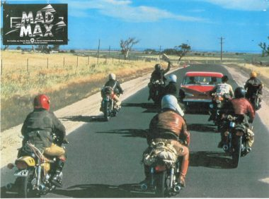 Mad Max bike scene from the first movie c1979
