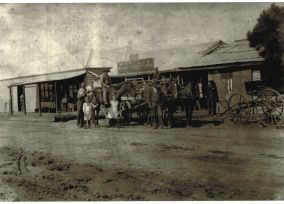 Pellow's Blacksmith shop on River St, Little River