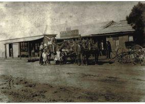 Pellow's Blacksmith shop on River St, Little River