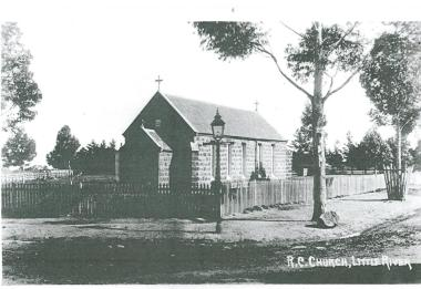 This is the original Catholic Church 1857-1922. The current St Michael's Catholic Church benefited from a bequest from Ewan McIntosh and was the only debt free Catholic Church in Victori