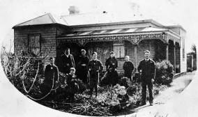 This photo is of the Davis family in front of original Davis House, somewhere circa 1900. It was in Station St (now Rothwell Road)